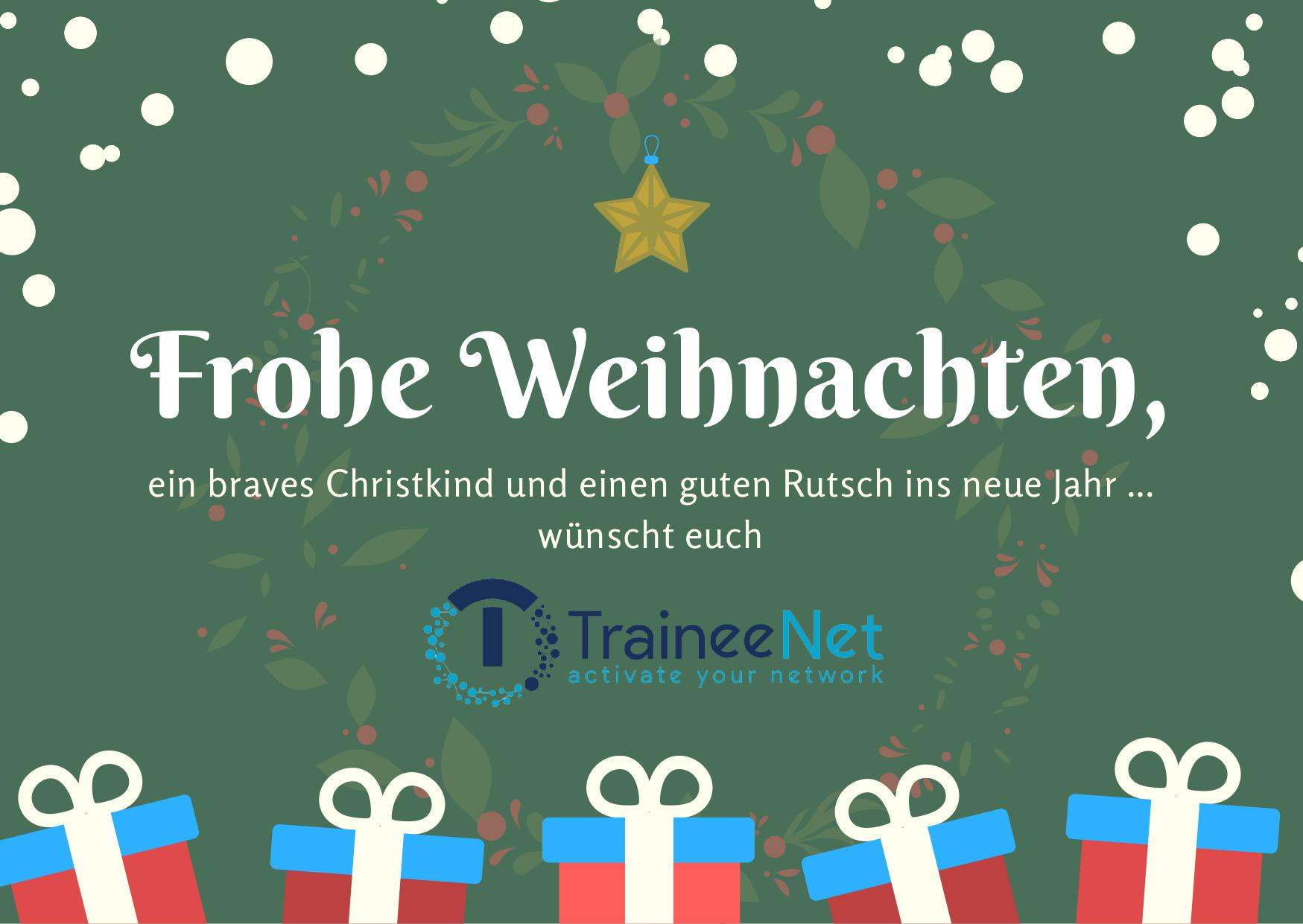 Frohe Weihnachten wünscht TraineeNet!